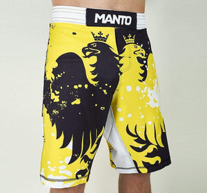 "Manto ""Krazy Bee"" Grappling Shorts Front View"
