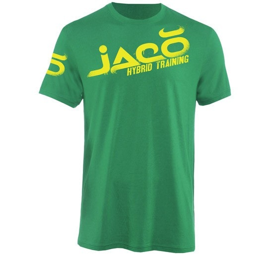 Jaco Overspray Crew T-Shirt Color Green Front View