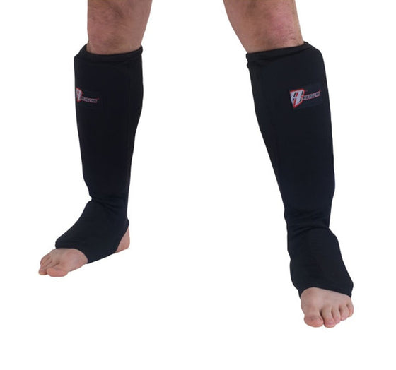 Revgear Cloth Shin and Instep Guards Front View