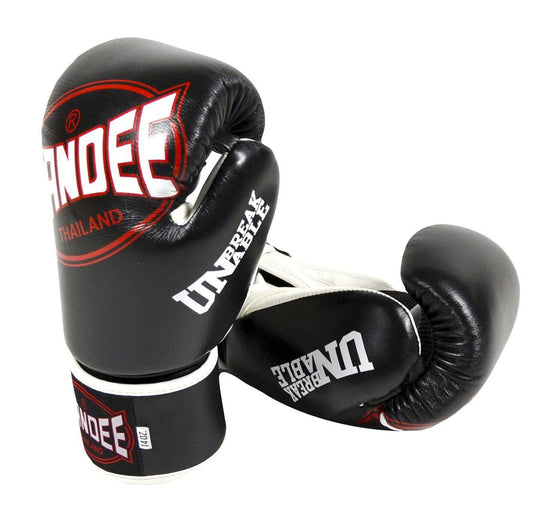 Sandee Junior Cool-Tec Synthetic Leather Boxing Gloves - Black/White