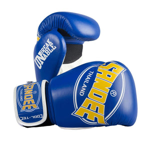 Sandee Junior Cool-Tec Synthetic Leather Boxing Gloves - Blue/White
