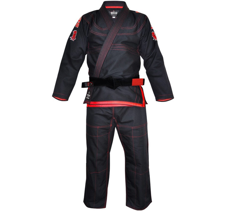 Fuji Sekai BJJ Gi Color Black Front View