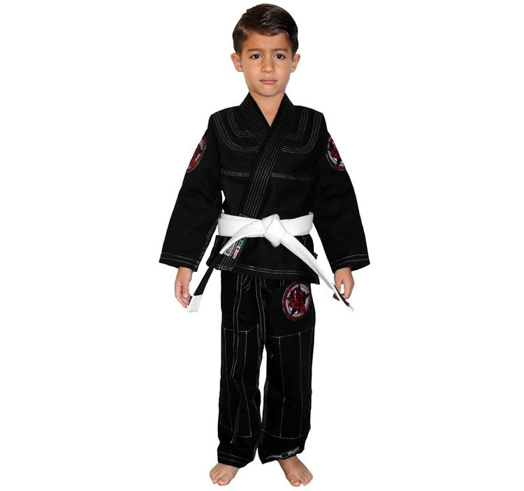 Break Point Gi Standard Kids Gi Color Black Front View