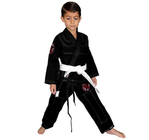 Break Point Gi Standard Kids Gi Color Black Front View 2