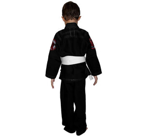 Break Point Gi Standard Kids Gi Color Black Rear View