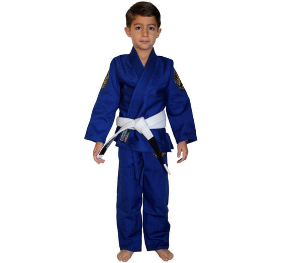 Break Point Gi Standard Kids Gi Color Blue Front View