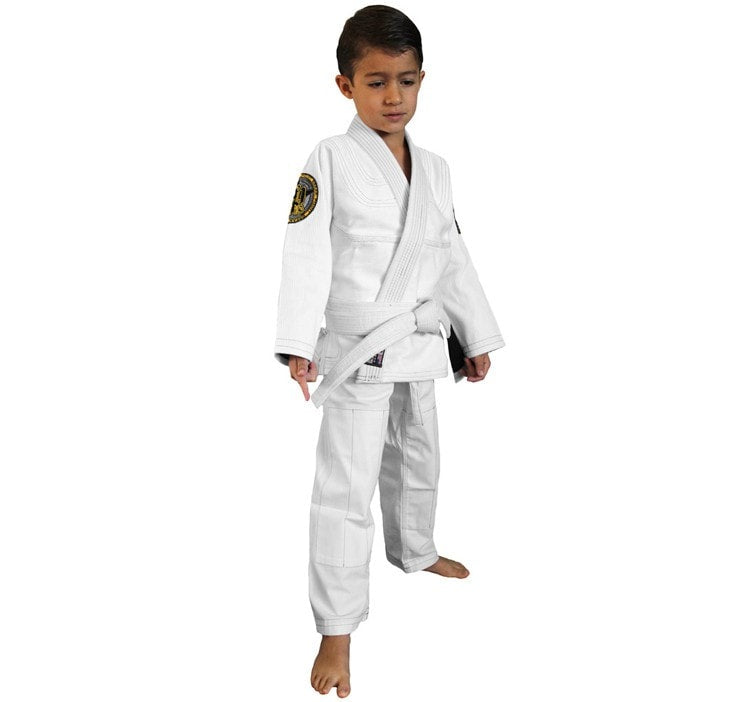 Break Point Gi Standard Kids Gi Color White Front View