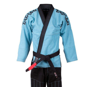 Tatami Inverted Gi - Aqua/Black Front Closeup