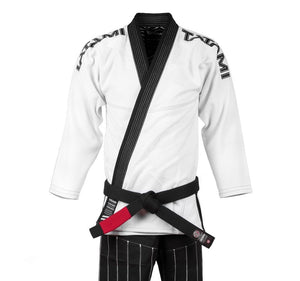 Tatami Inverted Gi - White and Black Front Closeup
