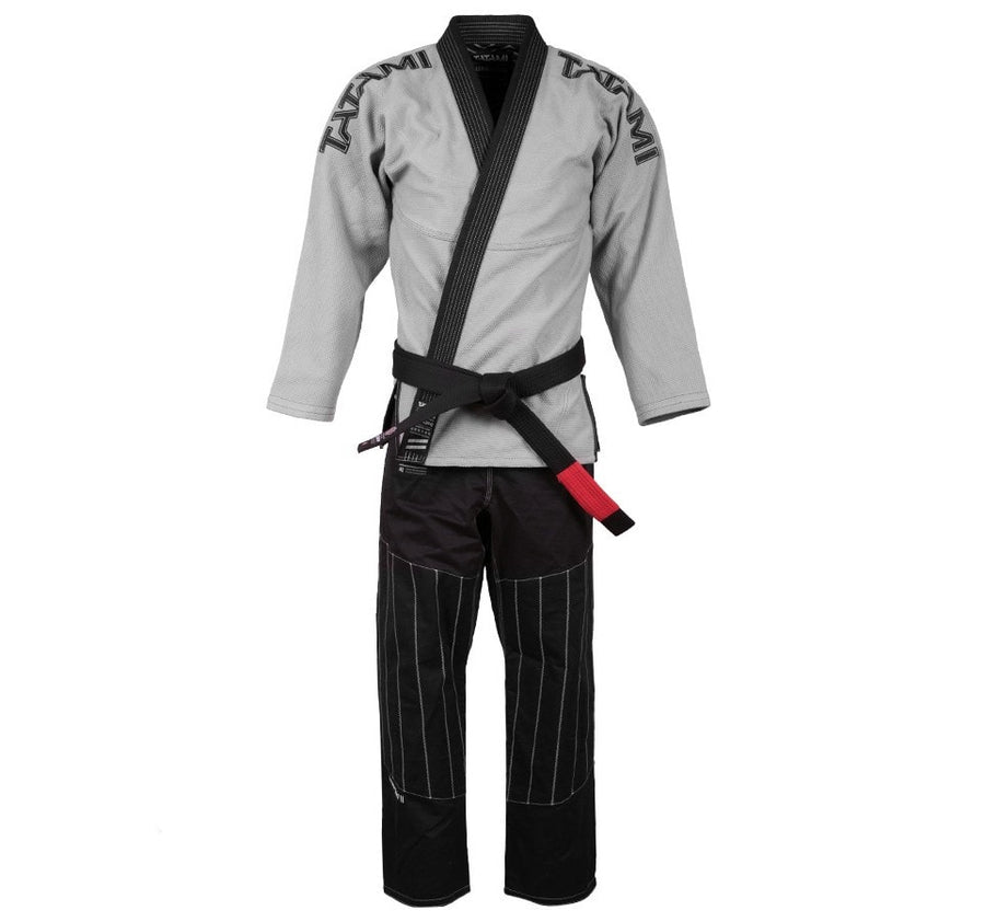 Tatami Inverted Gi - Grey/Black Front Closeup