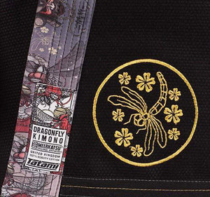 Tatami Dragon Fly Gi by Meerkatsu Jacket Closeup Lapel
