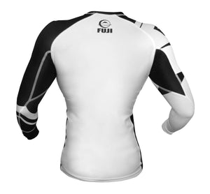 FUJI Sports: Freestyle IBJJF Ranked Rashguard - White | Long Sleeve