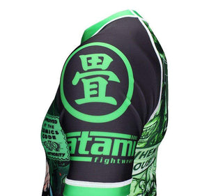 Tatami The Zombie Hunter Rash Guard Left Shoulder View