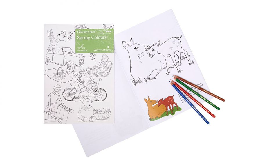 Spring Colours Dementia Colouring Book