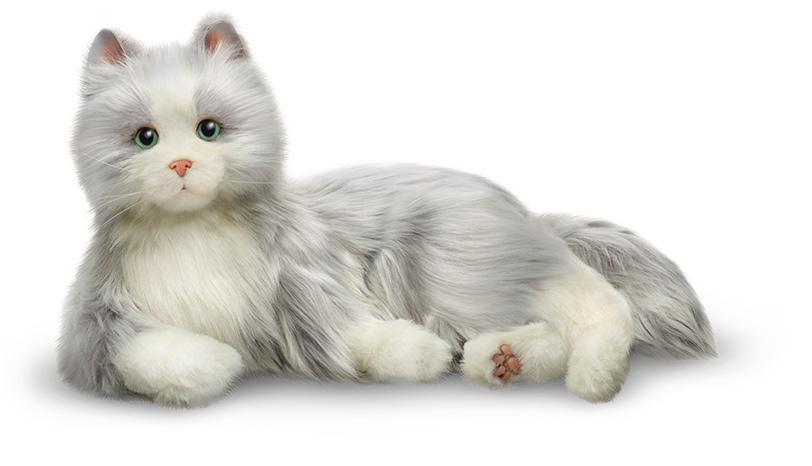 Ageless Innovations Companion Pet/Silver Cat with White Mitts