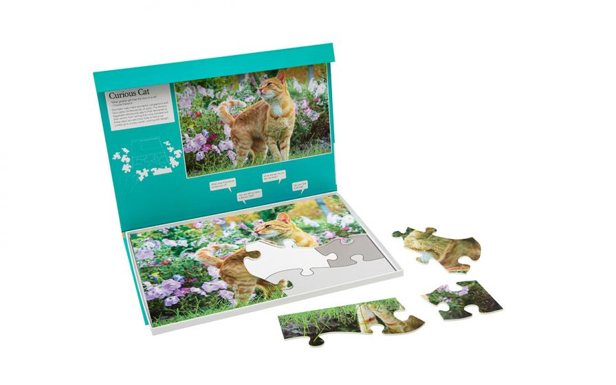 Curious Cat 13 piece plastic puzzle