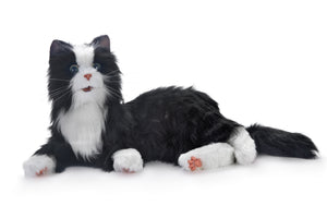 Ageless Innovations Companion Cat - Tuxedo Black & White