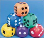 Spectrum 10 cm Rubber Dice (each)