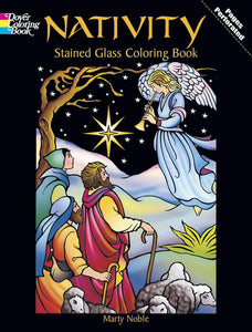Nativity Stained Glass Colouring