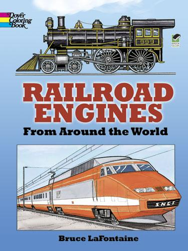 Railroad Engines from Around the World Colouring Book