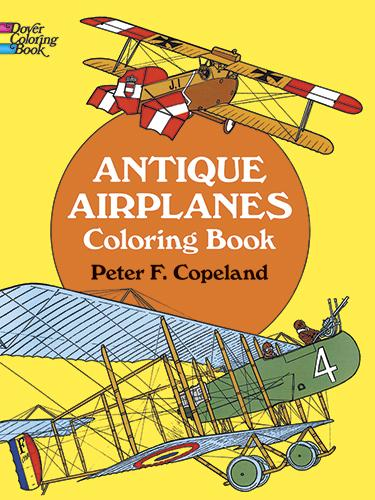 Antique Airplanes Colouring Book