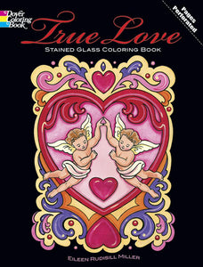 True Love Stained Glass Colouring Book