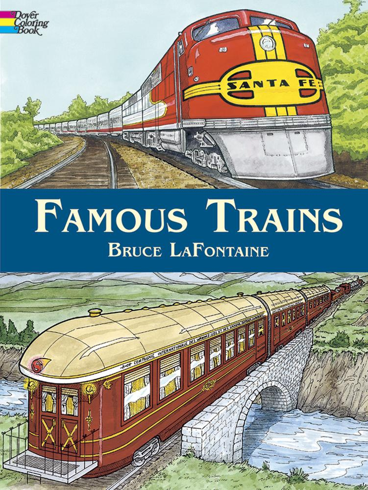 Famous Trains Colouring Book
