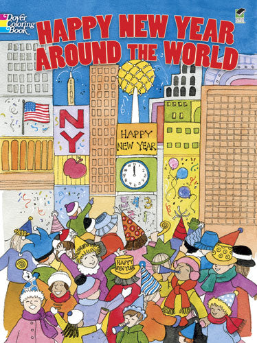 Happy New Year Around the World Colouring Book