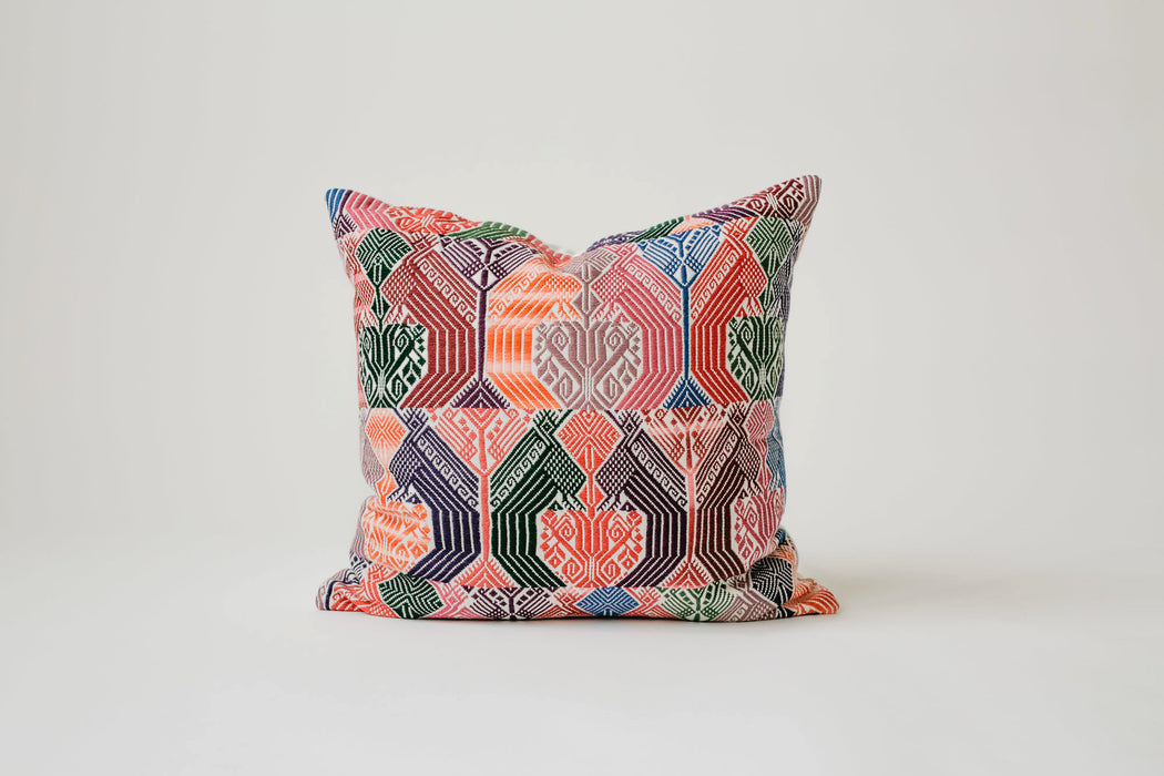 The Quetzal Pillow (20 x 20) - Guatemalan Handbags // JOJI