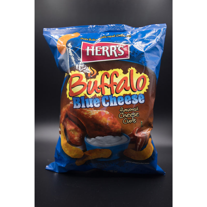 Herr's Buffalo Blue Cheese Flavoured Cheese Curls 198g (USA)