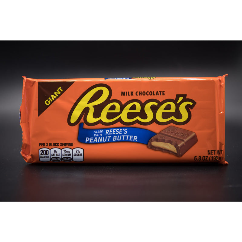 Reese's Milk Chocolate Block Filled with Reese's Peanut Butter - Giant Size 192g (USA)