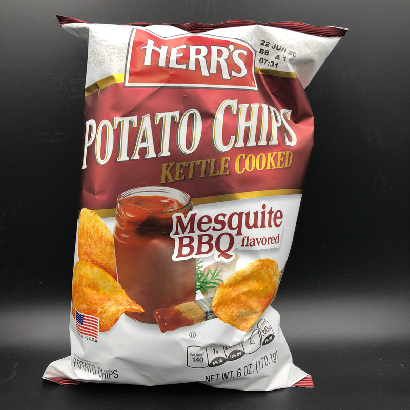 Herr's Kettle Cooked Mesquite BBQ Flavored Potato Chips 170g (USA) SHORT DATE