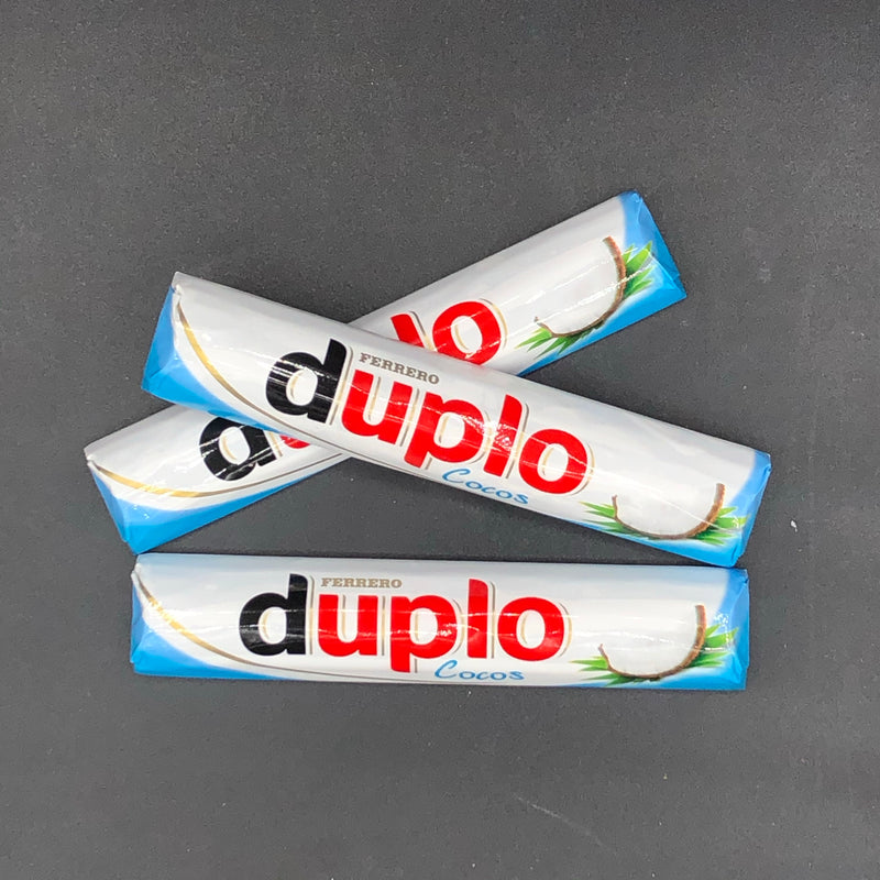 3x Ferrero Duplo Coconut Milk Chocolate Sticks 18g (GERMANY) SHORT DATE