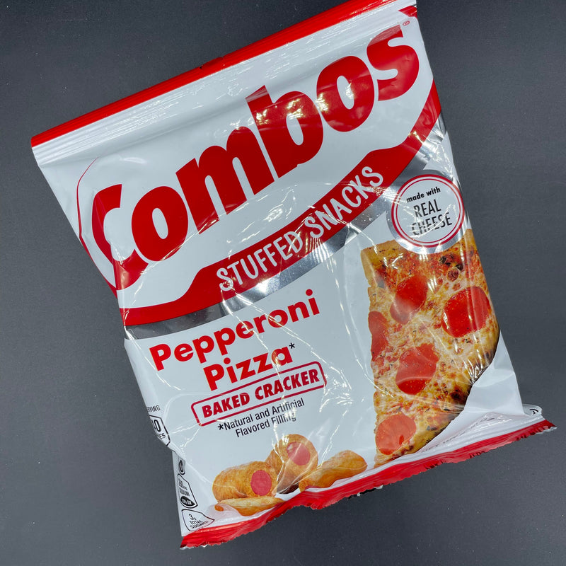 NEW Combos Stuffed Snacks - Pepperoni Pizza, Baked Cracker 178g (USA) NEW SIZE