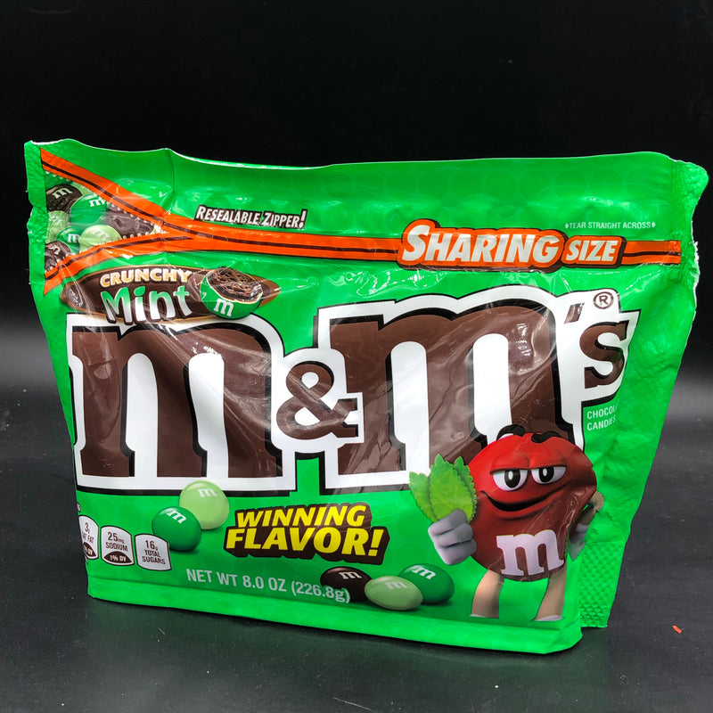 SPECIAL M&M's Crunchy Mint, Big Sharing Size 226g (USA)