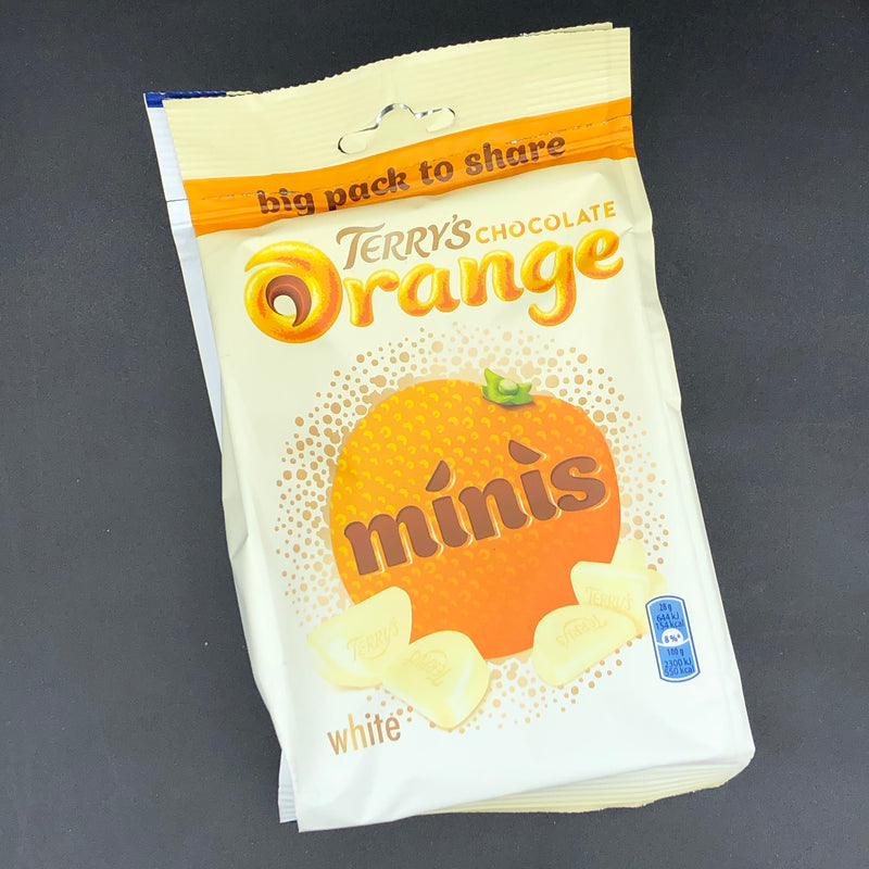 Terry's White Chocolate Orange Minis 140g (UK) SPECIAL EDITION