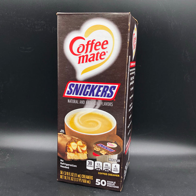 Nestle Coffee Mate Coffee Creamer Snickers Flavour - 50 Single Serve 11ml Tubs - 550ml (USA)