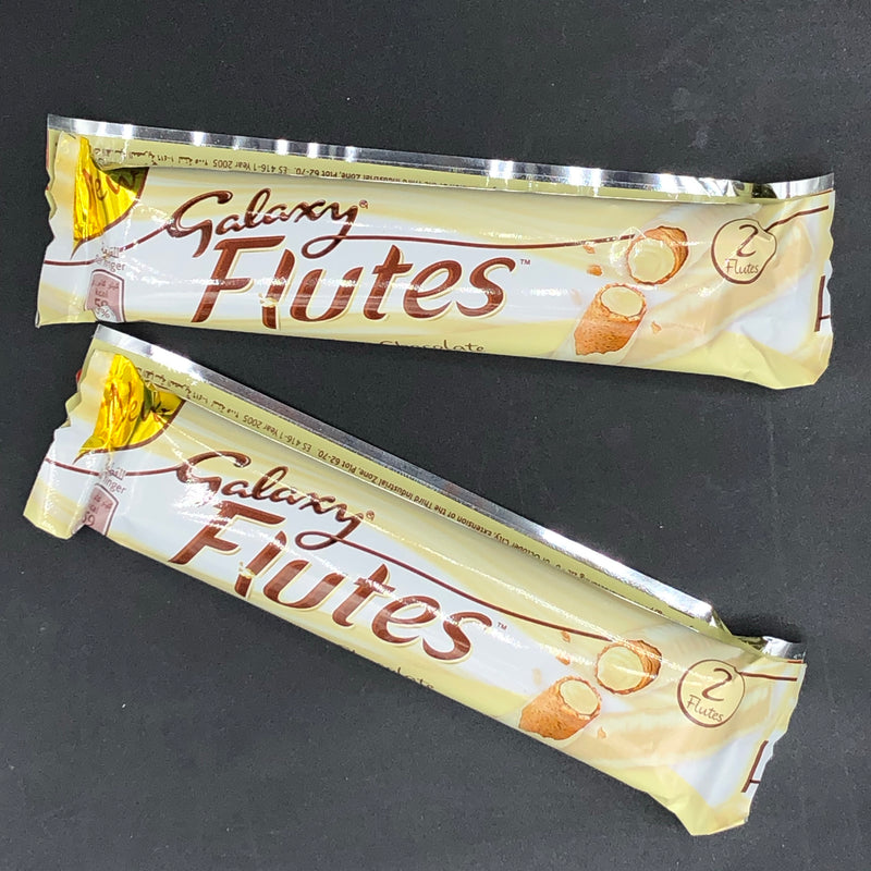 2x Galaxy Flutes White Chocolate (2 Flutes) 22.5g (Middle East)