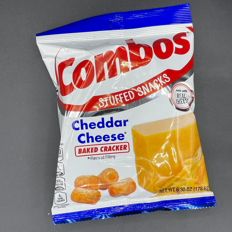 NEW Combos Stuffed Snacks - Cheddar Cheese, Baked Cracker 178g (USA) NEW SIZE
