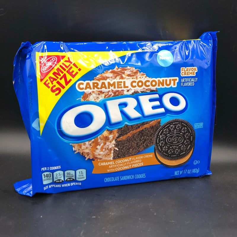 NEW Oreo Caramel Coconut Flavour, Family Size 482g (USA) NEW