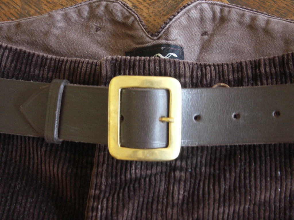 Leather Belt with solid brass buckle
