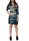 AREYRI COLD SHOULDER SILK DRESS