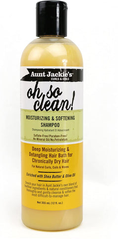 Aunt Jackie's Oh So Clean Moisturising & Softening Shampoo