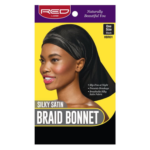 Braid Bonnet - Black One Size