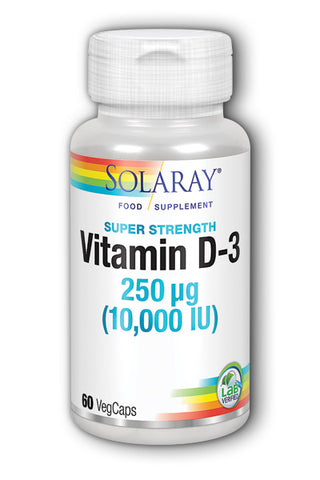 Solaray Vitamin D-3 Super Strength 10000 IU