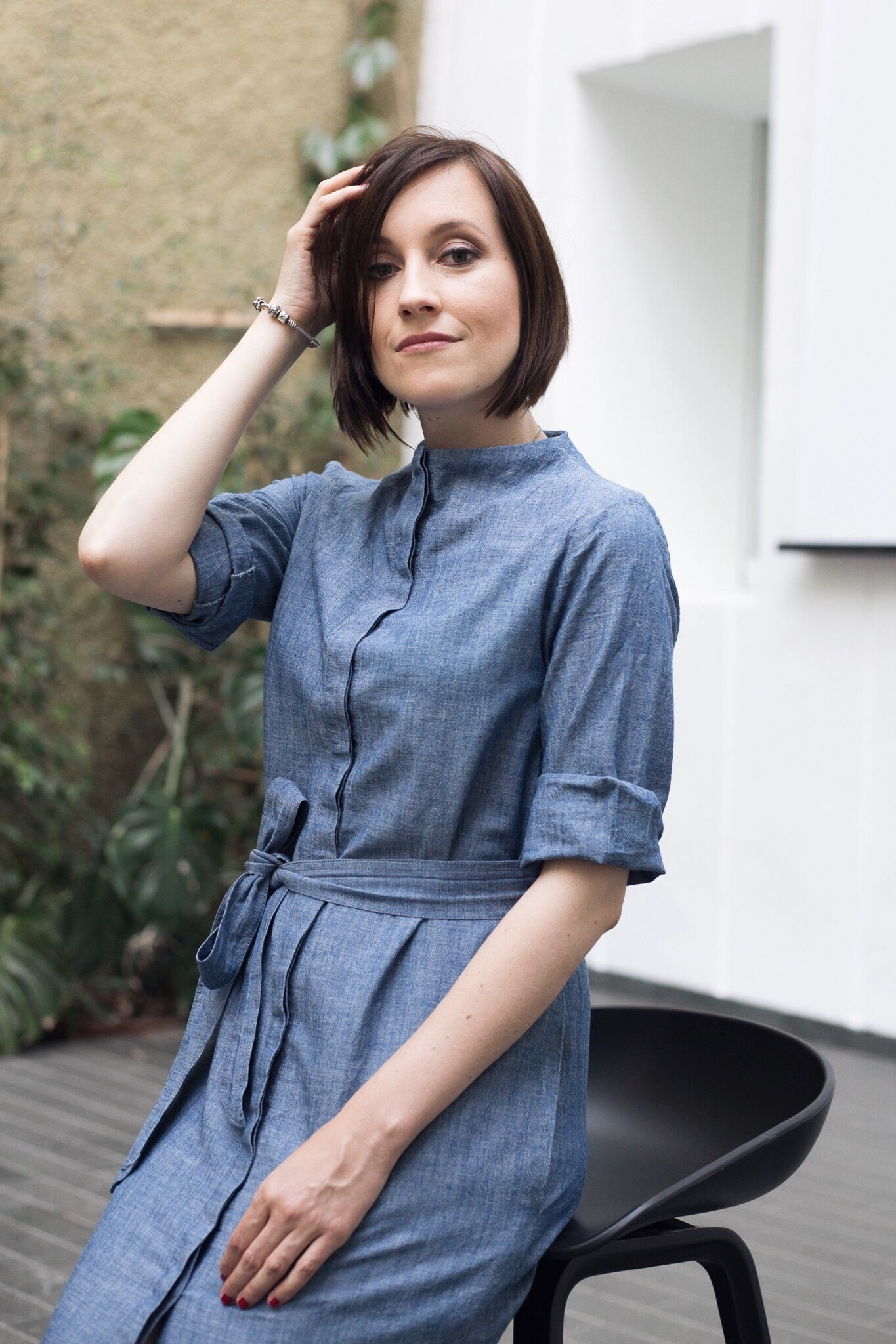 Classic shirt dress with interesting details