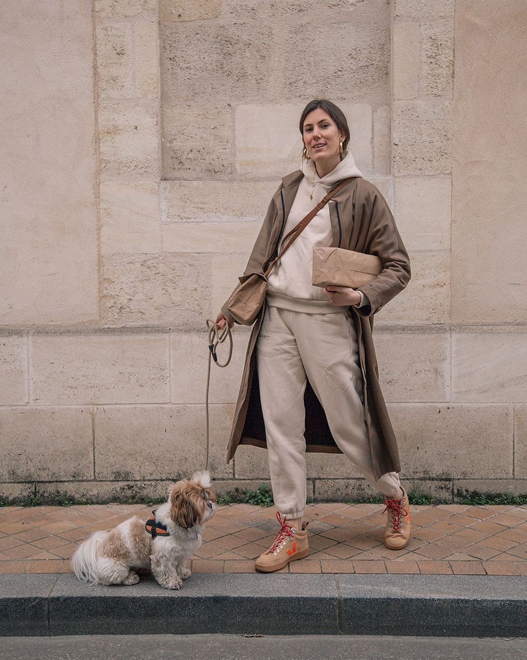 Standing collar coat - sustainable style
