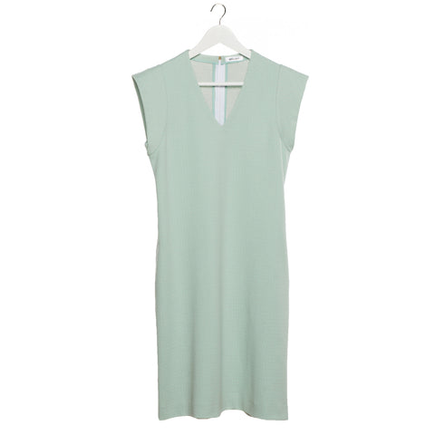 V-neck dress in mint