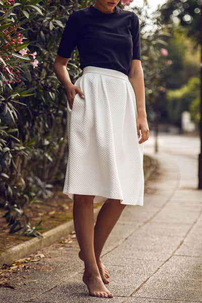 Sustainable Pleated midi skirt _ Mila.Vert