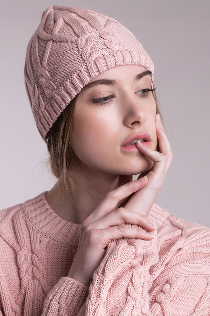 Knitted aran pullover & hat - Limited seasonal offer